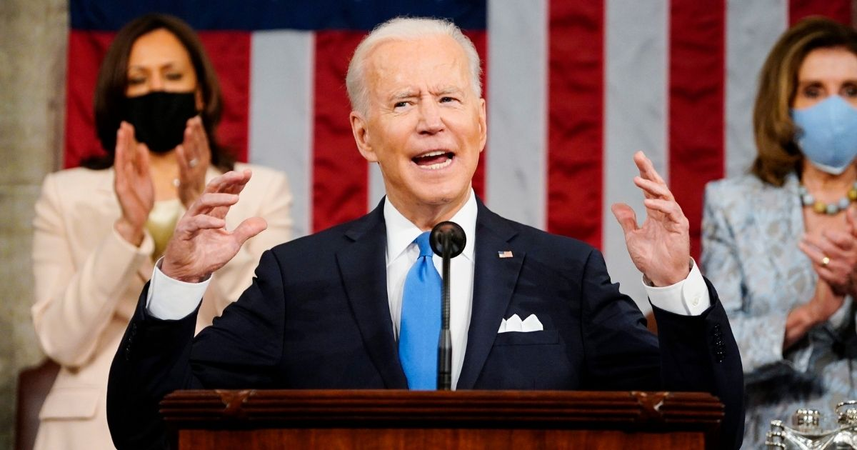 President Joe Biden addresses a joint session of Congress on Wednesday in the House Chamber at the U.S. Capitol in Washington, D.C.
