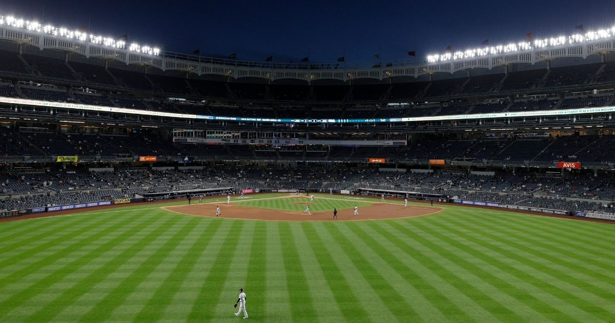 The Baltimore Orioles play the New York Yankees on April 5 at Yankee Stadium in the Bronx borough of New York City.