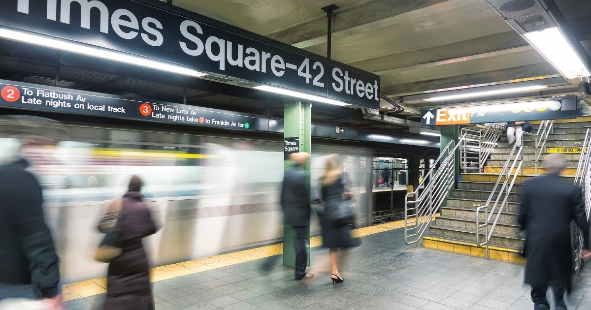 The New York City subway is seen in the above stock image.
