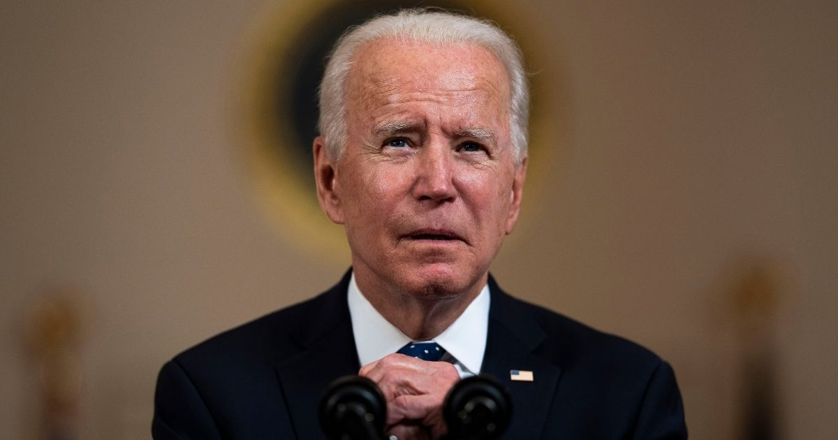 President Joe Biden makes remarks in response to the verdict in the murder trial of former Minneapolis police officer Derek Chauvin at the Cross Hall of the White House on April 20, 2021, in Washington, D.C.