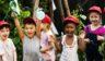 Children have fun at summer camp.